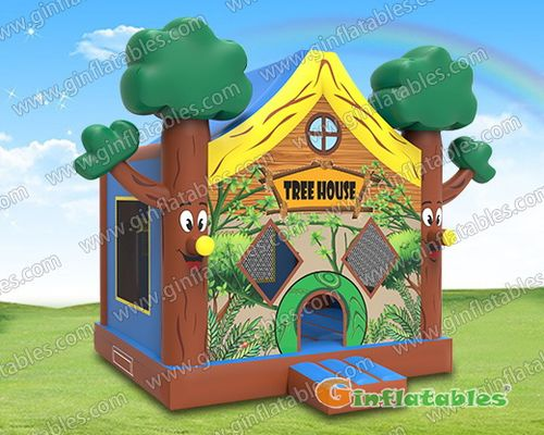 Tree house jumping castle